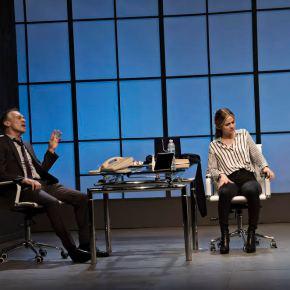 DOBLE O NADA (Las cosas del querer / las cosas del poder) Miguel Angel Solá y Paula Cancio Dirección: Quique Quintilla .  Por Dra. RaquelTesone
